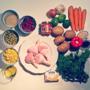 ingredients aguadito de pollo